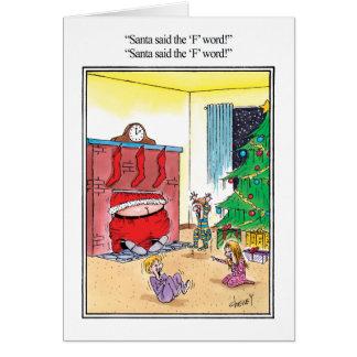 La tarjeta de felicitación del humor de la palabra