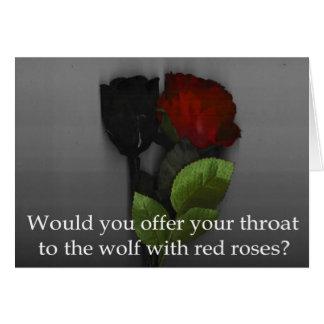 La tarjeta de felicitación del lobo