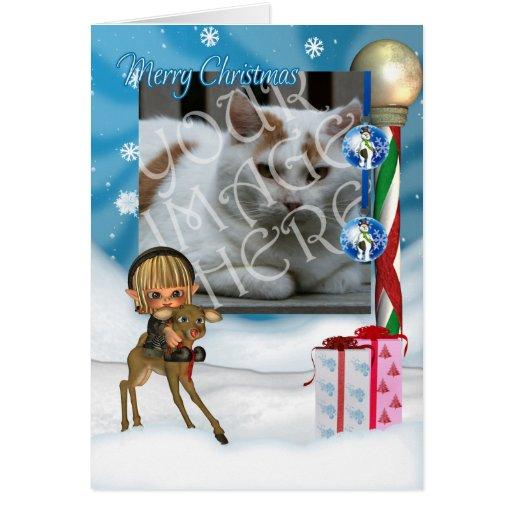 La tarjeta de felicitación del navidad de Photocar