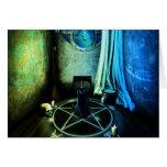 La tarjeta de felicitación del sitio de las brujas