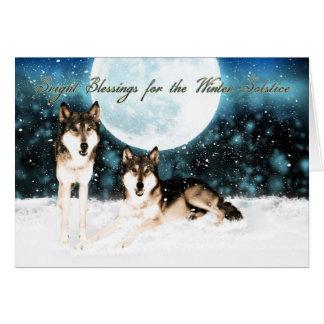 la tarjeta de felicitación del solsticio de