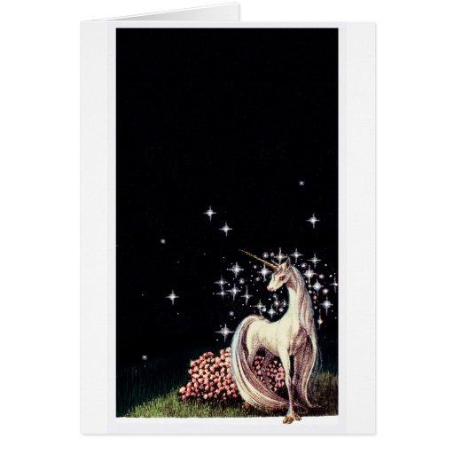 La tarjeta de felicitación del unicornio