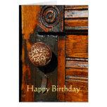 La tarjeta de felicitación, esconde, con la puerta