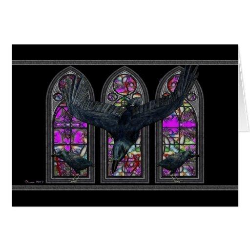 La tarjeta de felicitación gótica de Halloween de