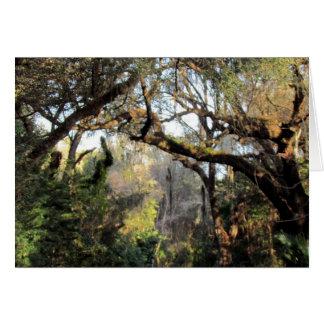 La tarjeta de felicitación mágica del bosque