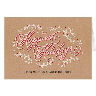 La tarjeta de felicitación más feliz del día de fi