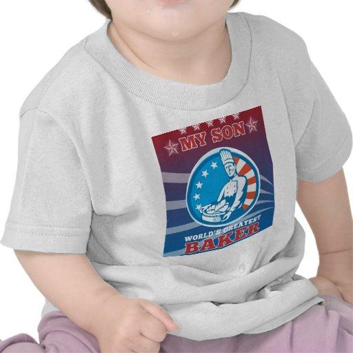 La tarjeta de felicitación más grande del hijo del camisetas