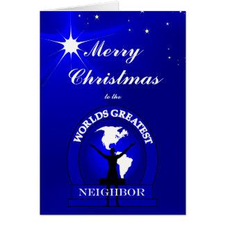 La tarjeta de felicitación vecina más grande de