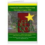 La tarjeta de felicitación verde del sitio