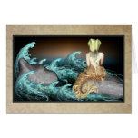 La tarjeta de felicitaciones de la sirena