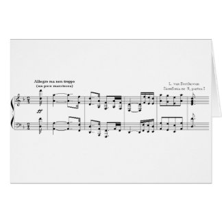 La tarjeta de felicitaciones de no 9 de la sinfon