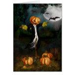 La tarjeta de Halloween del remiendo de la calabaz