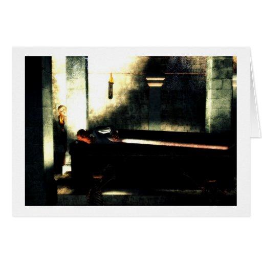 La tarjeta de Halloween del vampiro de la tumba