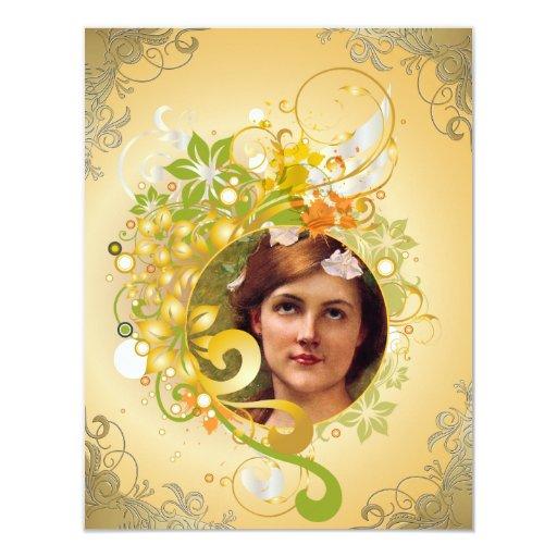 La tarjeta de imagen conmemorativa/invita - a 16 invitación 10,8 x 13,9 cm