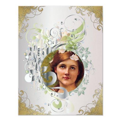 La tarjeta de imagen conmemorativa/invita - a 17 comunicados personalizados