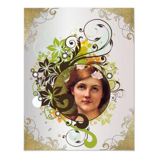 La tarjeta de imagen conmemorativa/invita - a 4 invitación 10,8 x 13,9 cm