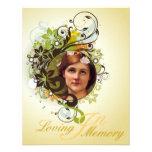 La tarjeta de imagen conmemorativa/invita - a 9