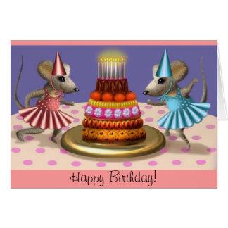 La tarjeta de la bailarina del feliz cumpleaños