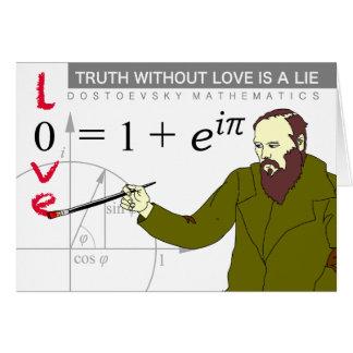 La tarjeta de la ecuación del Euler