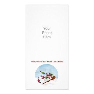 La tarjeta de la foto del paseo del trineo tarjeta fotografica personalizada