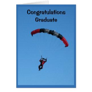 La tarjeta de la graduación del límite del cielo