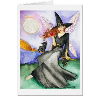 La tarjeta de la hada de Halloween
