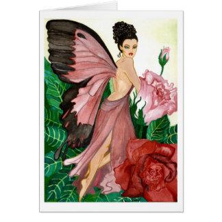 La tarjeta de la hada de Rosebush