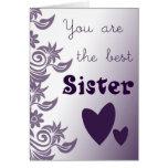 La tarjeta de la hermana