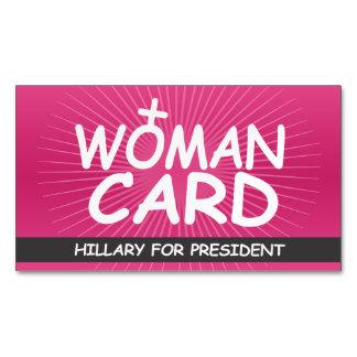 La tarjeta de la mujer tarjetas de visita magnéticas (paquete de 25)