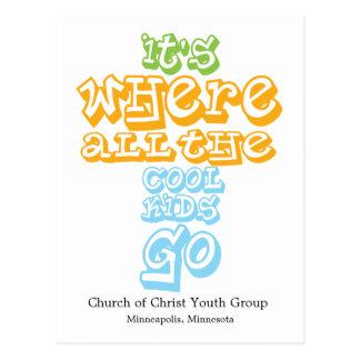 La tarjeta de la postal de Chrisitan de la iglesia
