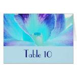La tarjeta de la tabla del boda de la orquídea azu