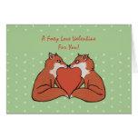 La tarjeta de la tarjeta del día de San Valentín a