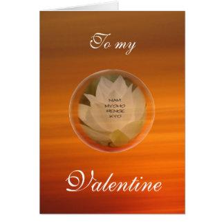 La tarjeta de la tarjeta del día de San Valentín b