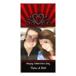 La tarjeta de la tarjeta del día de San Valentín d Tarjeta Fotografica Personalizada
