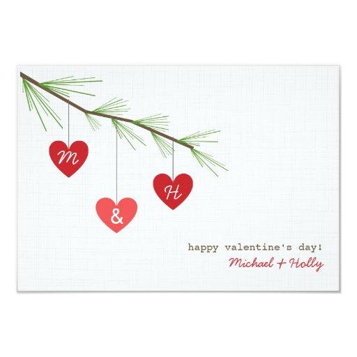 La tarjeta de la tarjeta del día de San Valentín Invitacion Personalizada