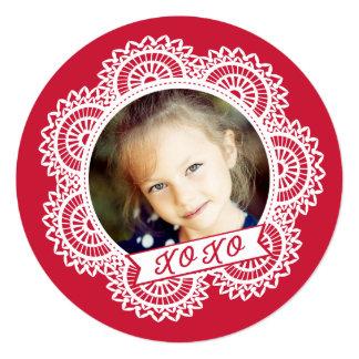 """La tarjeta de la tarjeta del día de San Valentín Invitación 5.25"""" X 5.25"""""""