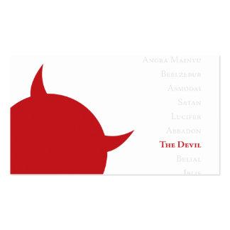 La tarjeta de la visita del diablo plantillas de tarjetas de visita