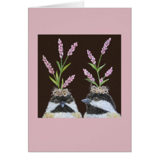 La tarjeta de las hermanas del Chickadee