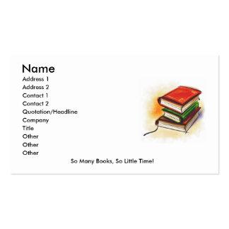 La tarjeta de lector tarjeta de visita