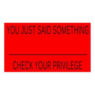 La tarjeta de letra roja tarjetas de visita