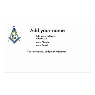 La tarjeta de Masoniic Plantilla De Tarjeta De Negocio