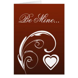 La tarjeta de mi día de San Valentín querido