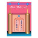 La tarjeta de Mitzvah del palo de diez mandamiento