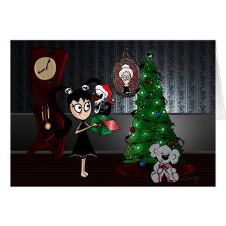 """La """"tarjeta de Navidad asustadiza Tarjeta De Felicitación"""