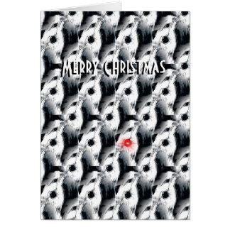 la tarjeta de Navidad barbuda del collie