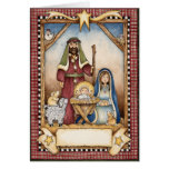 La tarjeta de Navidad de la natividad