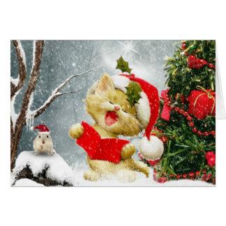 La tarjeta de Navidad de los cantantes del villanc