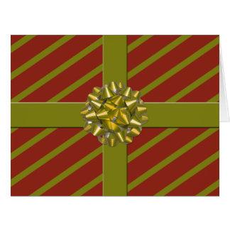 ¡La tarjeta de Navidad gigante envuelta del regalo