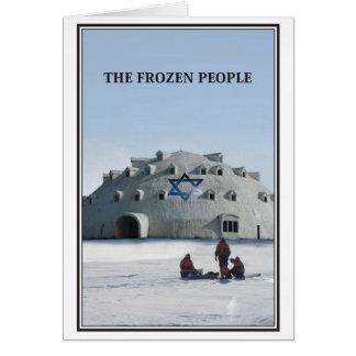 La tarjeta de Navidad judía de la gente congelada