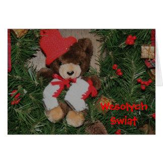 La tarjeta de Navidad polaca refiere la guirnalda